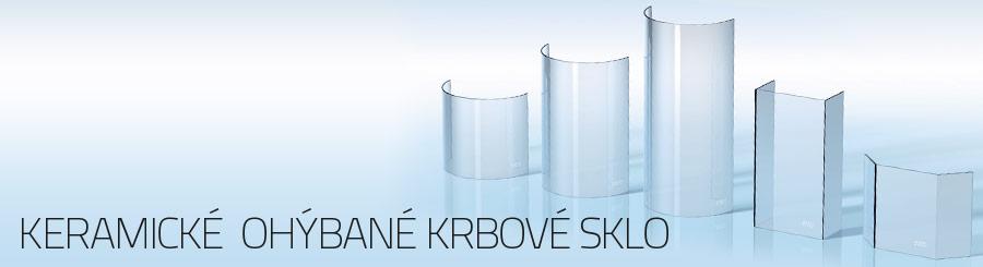 Keramické  ohýbané krbové sklo
