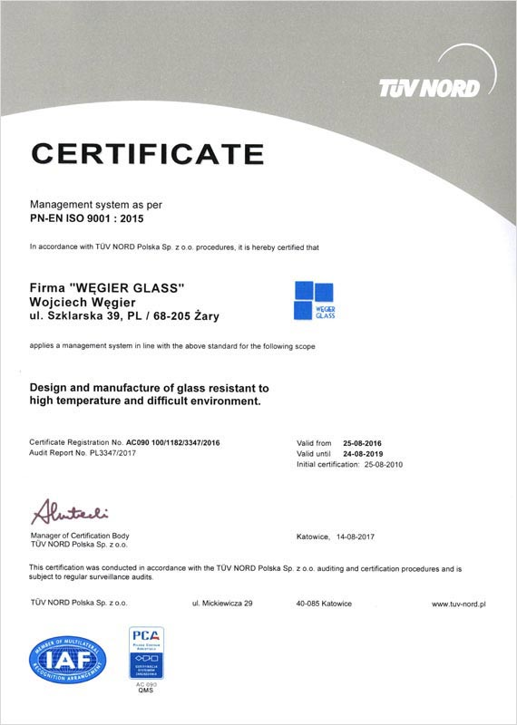Certificate ISO:9001-2009